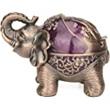 Stand Elephant Decorative Windproof Ashtray with Lid for Cigarettes Metal Portable Cigar Smoking Ashtray for Indoors Outdoors