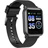 ASWEE Smart Watch, Fitness Trackers Heart Rate and Sleep Monitor, Step Counter, Multiple Sports Modes Tracking, IP67 Waterpro