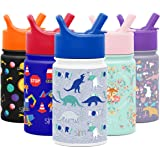 Simple Modern SMC-S-10-DNR 10oz Summit Kids Water Bottle Thermos with Straw Lid - Dishwasher Safe Vacuum Insulated Double Wal