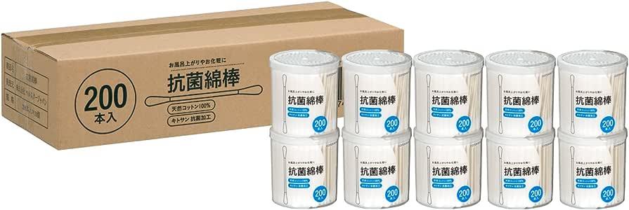 【Amazon.co.jp限定】抗菌綿棒 200本x10個