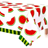 """2 Packs Watermelon Party Tablecloth – 51.1"""" X 86.6""""Disposable Watermelon Tablecloth Suitable for Watermelon Party Supplies D"""