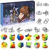 Devis Set of 24 Brain Teaser Puzzles Toys Metal Wire Puzzle Plastic Puzzle Advent Calendar 2020 Christmas Countdown Calendar