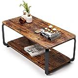 Embrace life ローテーブル 収納付きしセンターテーブル コーヒーテーブル リビング テーブル 副80*奥行*高さ40cm 虎皮色