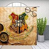 Harry Potter Hogwarts Magic School Logo Shower Curtain for Bathroom Waterproof Polyester Fabric 69 x 70 Inch Home Bath Suppli