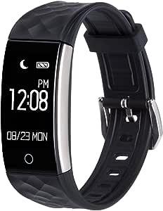 AGPtEK スマートブレスレット スマートウォッチ 活動量計 歩数計 IP67防水 Bluetooth 4.0 Smartwatch iPhone&Android 日本語対応 SW01 ブラック