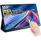 C-FORCE Portable Monitor Touch Display 15.6 Inch Full HD 1080P USB Type-C Computer Display IPS Eye Care Screen with HDMI USB-