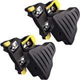 LANNIU Road Bike Cleats+Cleat Covers Set,Compatible with Shimano SPD-SL Pedals SM-SH11 Cleats,6 Degree Float for Road Bike Ou