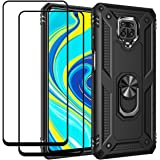 EasyLifeGo for Xiaomi Redmi Note 9S / Redmi Note 9 Pro/ 9 Pro Max Kickstand Case with Screen Protector Tempered Glass [2 Piec