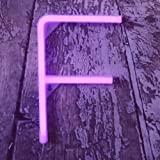 Light Up LED Neon Letter Signs Wall Decorative Neon Lights Purple Alphabet Marquee Letter Lights for Birthday Wedding Party D