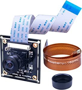 Longruner Raspberry pi カメラモジュール 広角160度 魚眼レンズ 夜間 赤外線可視可能 1080p高解像度 500W画素 ズームレンズ 16ピンFFCケーブル+Pi Zero Zero Wリボンケーブル Raspberry pi 4 3 2 1とpi Zero Zero Wに交換可能 空撮 FPCドローン LC20