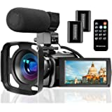 Video Camera Camcorder with Microphone, VideoSky FHD 1080P 30FPS 24MP Vlogging YouTube Cameras 16X Digital Zoom Camcorder Web