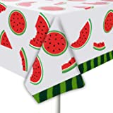 """JHkim Watermelon Tablecloth for Party - 2 Packs 52"""" X 87"""" Watermelon Party Supplies, for Holiday Dinner, Buffet Watermelon Di"""