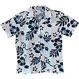 Made in Hawaii ! Women's Classic Hibiscus Flowers Hawaiian Aloha Camp Shirt