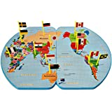 Board Games for Kids - Educational Toys – National Geographic Kids – Map of the World – Flags - Toys for Kids ages 4 – 10 -Wo