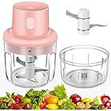 Food Chopper Electric, USB Charging Portable Vegetable Kitchen Food Processor and Blender for Cutter Vegetables/Meat Grinder/
