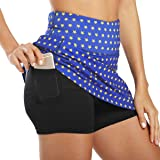 Ultrafun Womens Active Sports Skirt Stretchy Quick Dry Athletic Skort with Shorts Pockets for Running Tennis Walking