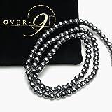 OVER-9 テラヘルツ 4mm 連売り テラヘルツ鉱石 一連 ブレスレット用 ネックレス用 丸玉 ビーズ パーツ 卸価…
