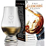 Glencairn Decorative Crystal Whiskey Tasting Glass - I Love NY