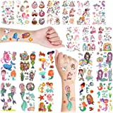 Mermaid & Unicorn Temporary Tattoo For Girls - Temporary Tattoo For Kid - Fake Tattoo For Kids - Unicorn Tattoo Sticker For K