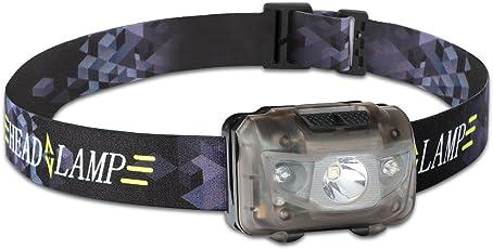Nikatto ヘッドライト ヘッドランプ+多機能収納ボックス 5つモード 赤色付き IPX6防水 単4電池式 小型 軽量 登山用 星空撮影 (一個/三個セット)