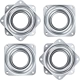 Onwon 4 Pieces 3 Inch Square Lazy Susan Turntable Bearings 150 Pound Capacity Galvanized Steel Rotating Bearing Plate Swivel