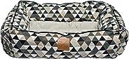 Mog & Bone Bolster Dog Bed Mocca Diamond Print Small