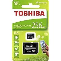 256GB microSDXCカード マイクロSD TOSHIBA 東芝 CLASS10 UHS-I R:100MB/s SDアダプター付 海外リテール THN-M203K2560