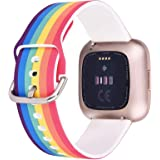 CAGOS Compatible with Fitbit Versa Silicone Printed Bands