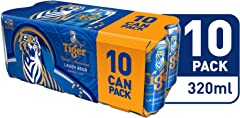 Tiger Lager Beer Can, 10 x 320ml