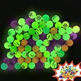 Zcaukya Halloween Party Favors Kids, 72 PCS Halloween Glow Dark Bouncy Balls, Non Candy Halloween Treat, Halloween Trick Trea