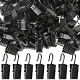 Teenitor 100 Pack Curtain Clips Stainless Steel Light Hanger Hooks Christmas Party Decor Supplies for Camp Tent Photo Display
