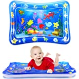 WSPER Tummy Time Water Mat Inflatable Baby Water Play Mat for 3+ Months Newborn Infants Sensory Development and Stimulation G