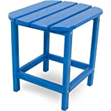 """POLYWOOD SBT18PB South Beach 18"""" Outdoor Side Table, Pacific Blue"""
