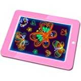 Hzran Crazy Disco Neon Light Up Glow Board-Magic Drawing Board - Writing Maker -Learning, Create, Art Tablet-Musical Light Up