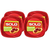 Solo Plastic Party Plates, Red, 10 Inch, 120 Count,