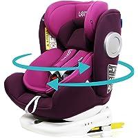 LETTAS チャイルドシート 360° 回転式 0か月~12歳頃(0~36kg) ISOFIX・シートベルト固定両対応…