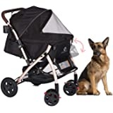 HPZ Pet Rover XL Extra-Long Premium Heavy Duty Dog/Cat/Pet Stroller Travel Carriage with Convertible Compartment/Zipperless E