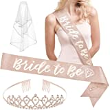xo, Fetti Bachelorette Party Decorations Rose Gold Glitter Kit - Bridal Shower Supplies | Bride to Be Sash, Bride Balloons, T