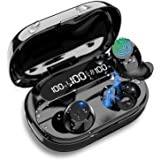 Wireless Earbuds, Bluetooth 5.0 True Wireless Headphones with Smart LED Display Charging Case, Touch Control Bluetooth Earbud