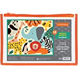 """Mudpuppy Zoo Animals Pouch Puzzle, 12 Extra Thick Colorful Pieces, 14""""x11"""" – Great for Kids Age 2-4 – Perfect for Travel – He"""