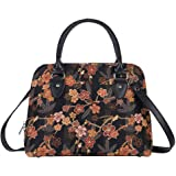 Signare Tapestry Handbag Satchel Bag Shoulder bag and Crossbody Bag and Purse for women with Ume Sakura Japanese Style