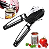 Apsung Can Opener, Manual Can Opener, ,Ergonomic and Easy to Use, with Large Turn Knob ,Food Grade Stainless Steel Opener for