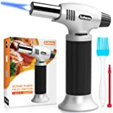 Authenzo Kitchen Butane Torch Lighter (Butane Gas Not Included, Black)