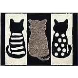 ZebraSmile Cartoon Cat Bath Room Rug Cute Water Absorption Non Slip Super Soft Microfiber Entryway Doormat for Shower Room Ba