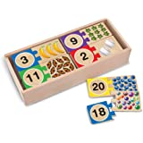 Melissa & Doug 2542 Self-Correct Counting Wooden Number Puzzles With Storage Box (40 pcs)
