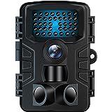 防犯カメラ トレイルカメラ VANBAR のデザイン 屋外カメラ 電池式 暗視カメラ 120°撮影範囲 人感センサー IP66防水防塵 野外用 2000万画素 1080PフルHD 夜間不可視赤外線ライト搭載 上書き録画 36ヶ月保証 日本語取扱説明書