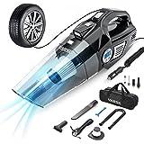 VARSK Tire Inflator Portable Air Compressor, Car Vacuum Cleaner, with Digital Tire Pressure Gauge LCD Display and LED Light,