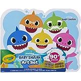 Crayola Baby Shark Art Set, 90 Pieces, Gift for Kids, 4, 5, 6, 7