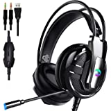 Proxima Direct Gaming Headset, 3.5mm Stereo Wired Gaming Headphones for PS4/5 Xbox One Xbox 360, Noise Cancelling Mic Over Ea
