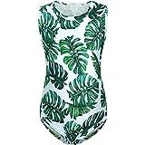 AmzBarley Girls One Piece Swimsuit Polka Dot Bathing Suit Ruffle Beachwear with Sun Hat 1-6 Years